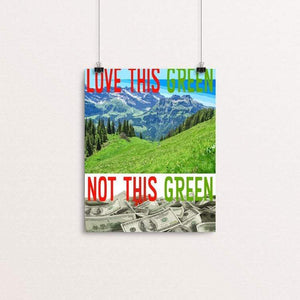 "Love This Green by Atabey Sanchez-Haiman 8"" by 10"" Print / Unframed Print Green New Deal"