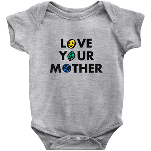 Love Your Mother Baby Onesie by Erica Dixon Heather / 6M Baby Onesie Creative Action Network