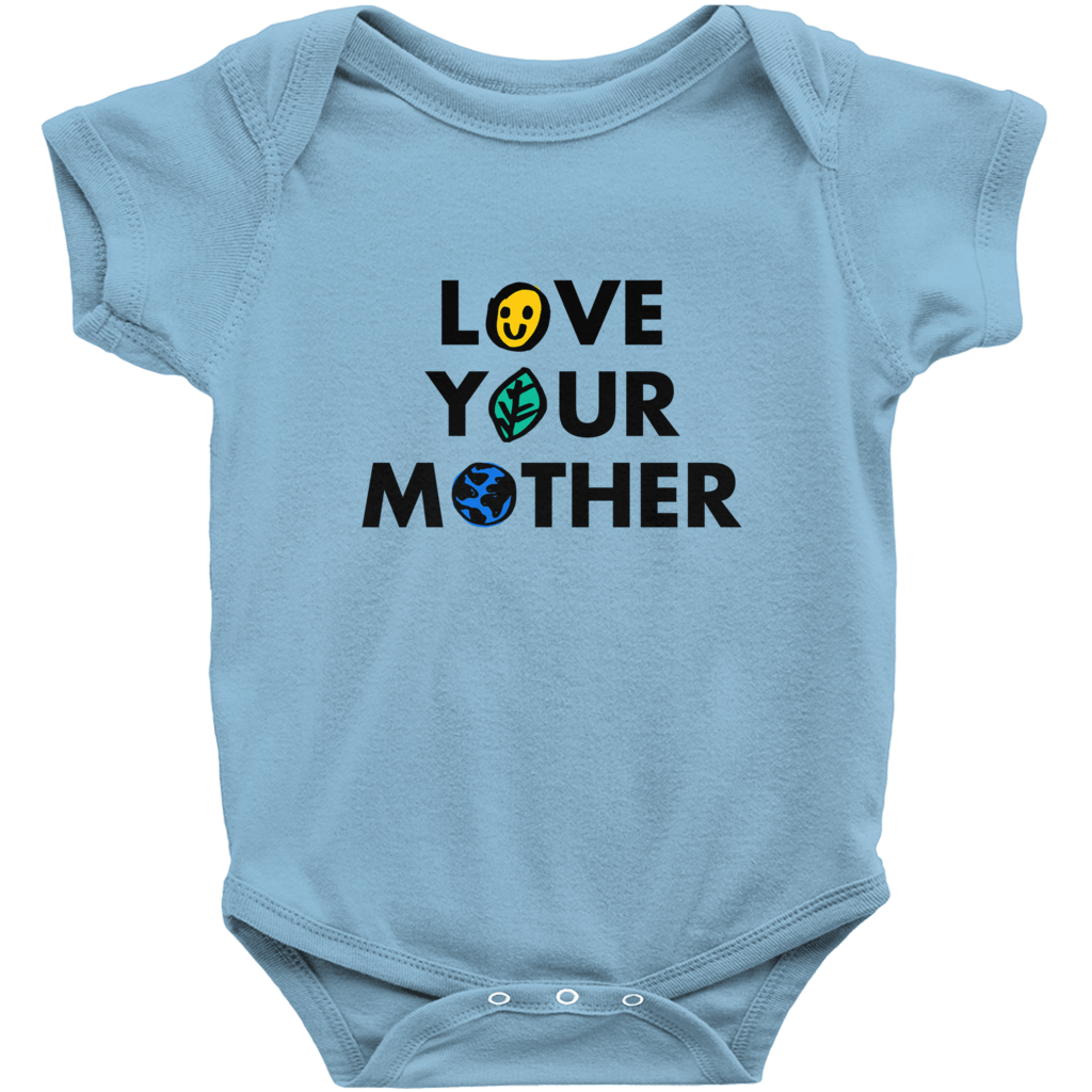 Love Your Mother Baby Onesie by Erica Dixon Light Blue / NB Baby Onesie Creative Action Network