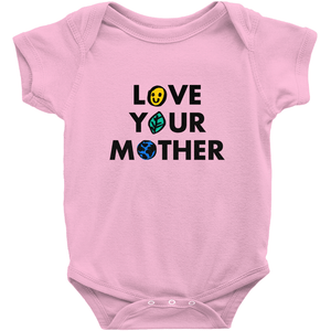 Love Your Mother Baby Onesie by Erica Dixon Pink / NB Baby Onesie Creative Action Network