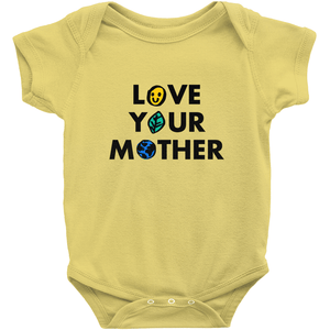 Love Your Mother Baby Onesie by Erica Dixon Yellow / NB Baby Onesie Creative Action Network