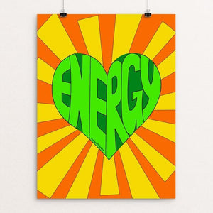 "Loving Green Energy by JP Designs 12"" by 16"" Print / Unframed Print Creative Action Network"