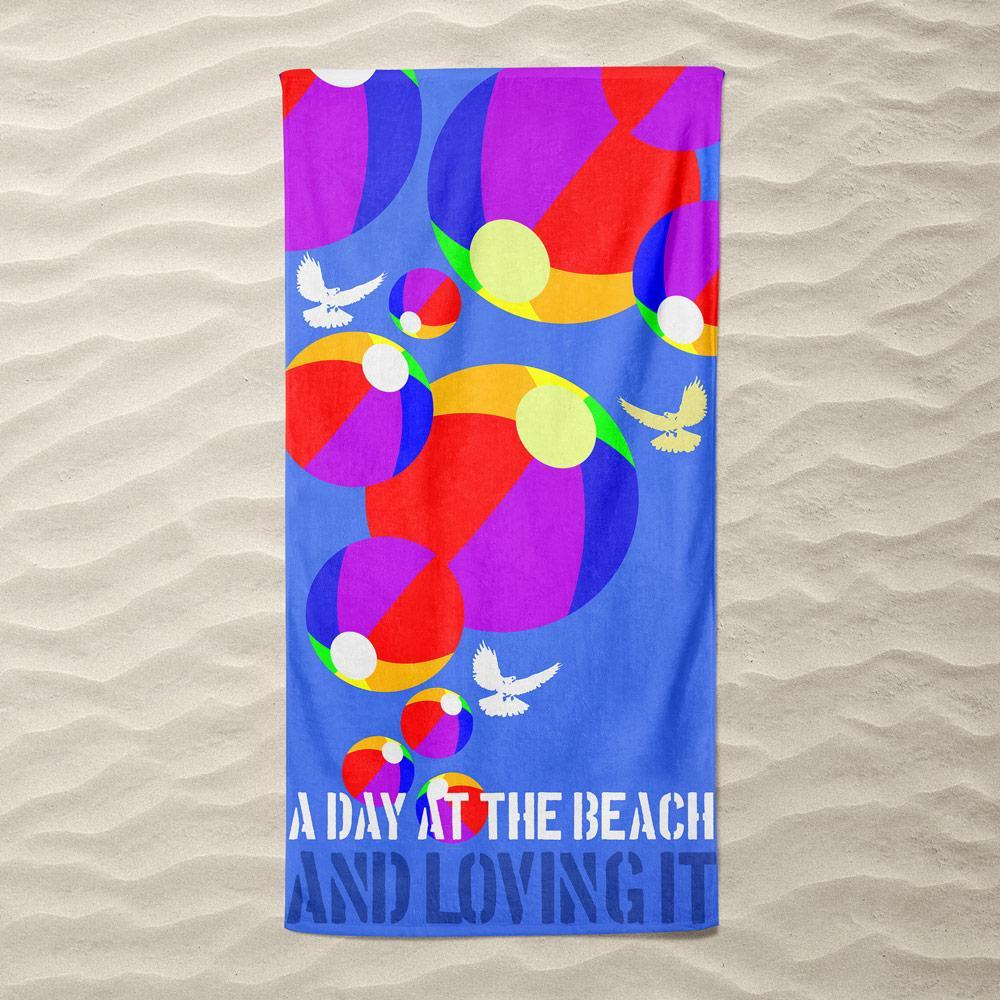 Loving It! by Bob Rubin Beach Towel Ocean Love