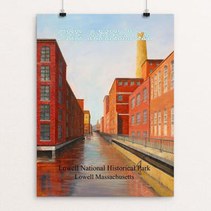 "Lowell National Historical Park by Linda Demers 12"" by 16"" Print / Unframed Print See America"