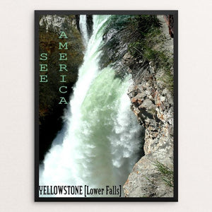 Lower Falls, Yellowstone National Park by Bryan Bromstrup