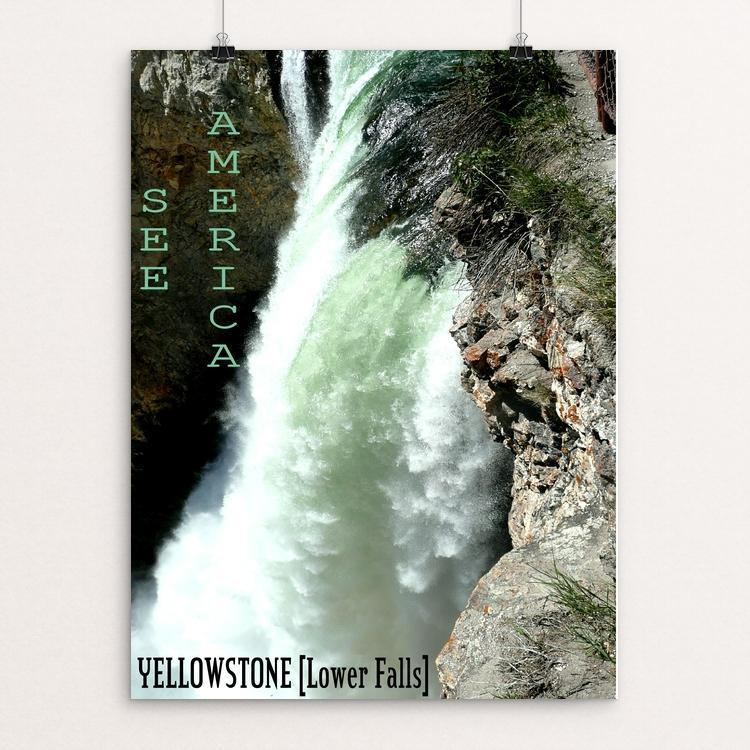 "Lower Falls, Yellowstone National Park by Bryan Bromstrup 12"" by 16"" Print / Unframed Print See America"