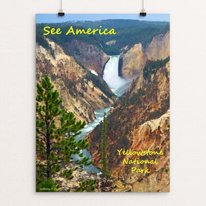 "Lower Yellowstone Falls by Anthony Chiffolo 18"" by 24"" Print / Unframed Print See America"
