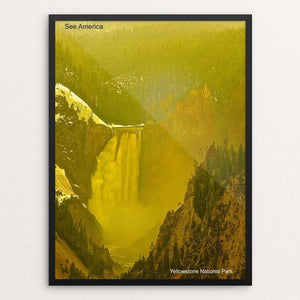 "Lower Yellowstone Falls, Yellowstone National Park by Vito Marrone 12"" by 16"" Print / Framed Print See America"