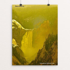 "Lower Yellowstone Falls, Yellowstone National Park by Vito Marrone 12"" by 16"" Print / Unframed Print See America"