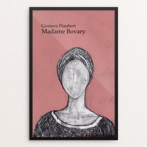 "Madame Bovary by Anna Masini 12"" by 18"" Print / Framed Print Recovering the Classics"