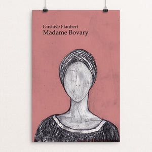 "Madame Bovary by Anna Masini 12"" by 18"" Print / Unframed Print Recovering the Classics"
