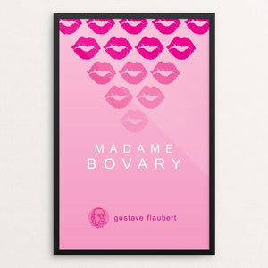 "Madame Bovary by Robert Wallman 12"" by 18"" Print / Framed Print Recovering the Classics"