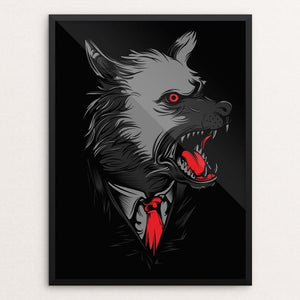"Mafia Wolves by Deka Gumilar 12"" by 16"" Print / Framed Print Join the Pack"