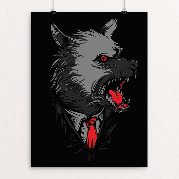 "Mafia Wolves by Deka Gumilar 12"" by 16"" Print / Unframed Print Join the Pack"