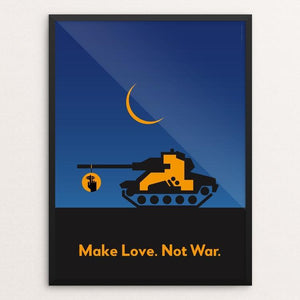 "Make Love. Not War. by Luis Prado 12"" by 16"" Print / Framed Print Creative Action Network"