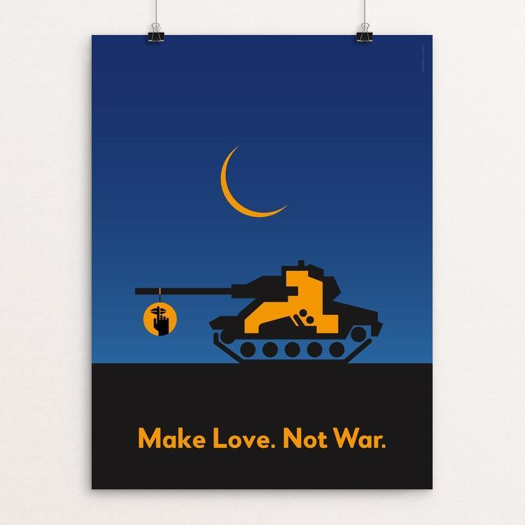"Make Love. Not War. by Luis Prado 12"" by 16"" Print / Unframed Print Creative Action Network"