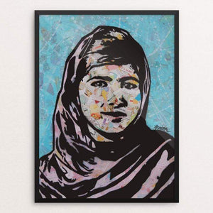 "Malala by Amy Smith 18"" by 24"" Print / Framed Print Creative Action Network"