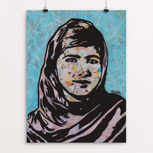 "Malala by Amy Smith 18"" by 24"" Print / Unframed Print Creative Action Network"