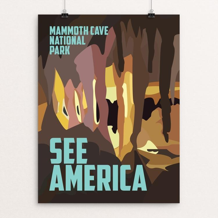 "Mammoth Cave National Park by Brooke Robbinson 18"" by 24"" Print / Unframed Print See America"
