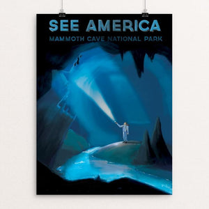 "Mammoth Cave National Park by Philip Vetter 12"" by 16"" Print / Unframed Print See America"