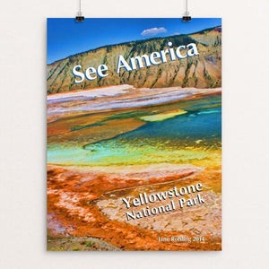 "Mammoth Hot Springs, Yellowstone National Park by Jane Rohling 12"" by 16"" Print / Unframed Print See America"