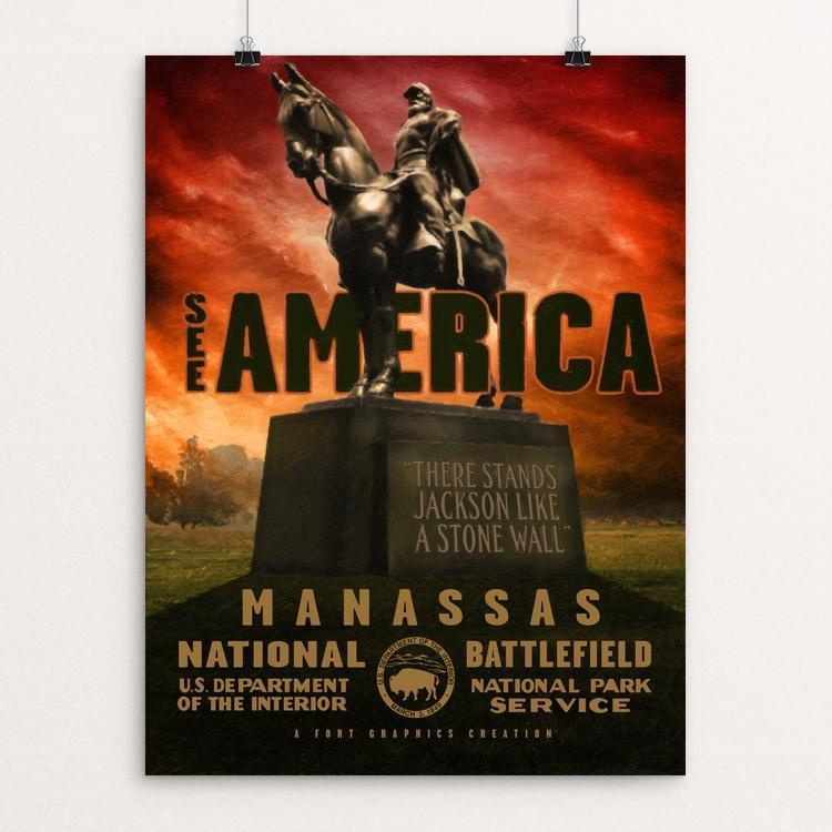 "Manassas National Battlefield Park by Justin Weiss 18"" by 24"" Print / Unframed Print See America"