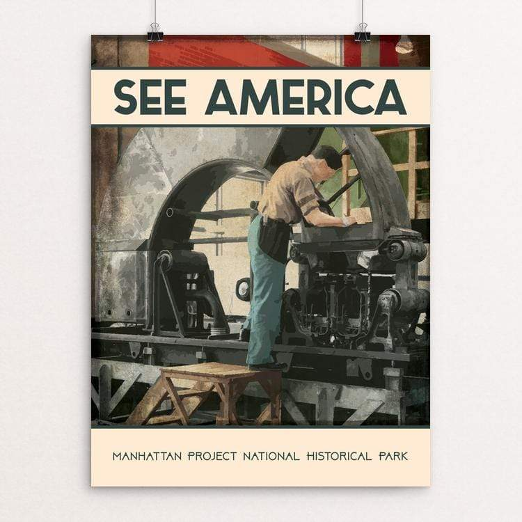 "Manhattan Project National Historical Park by Reenie Mooney 18"" by 24"" Print / Unframed Print See America"