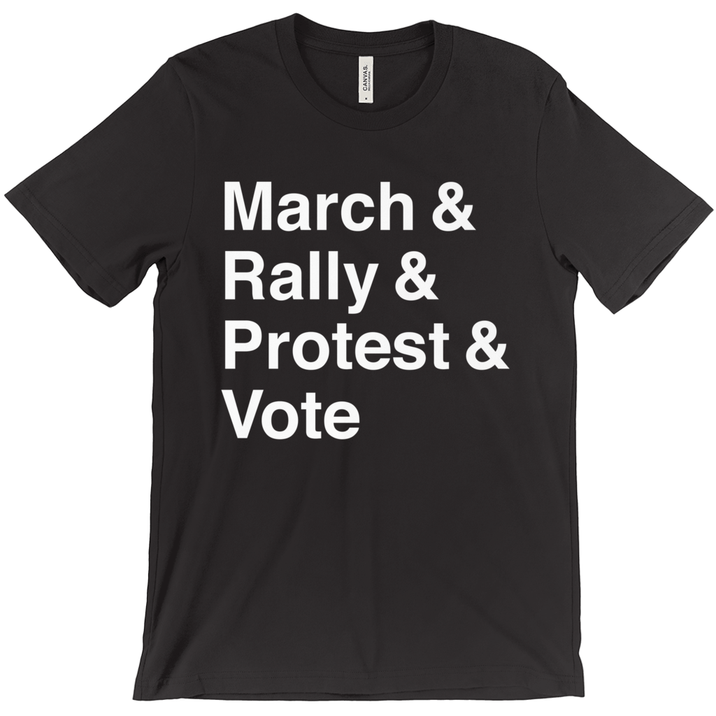 March, Rally, Protest and Vote Men's T-Shirt by Aaron Perry-Zucker
