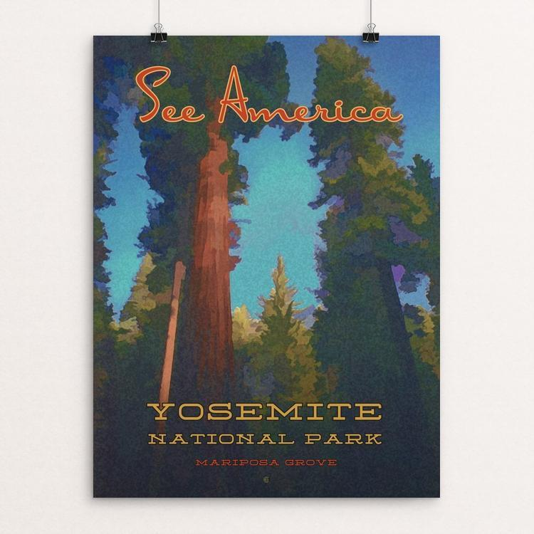 "Mariposa Grove, Yosemite National Park by Ed Gaither 18"" by 24"" Print / Unframed Print See America"