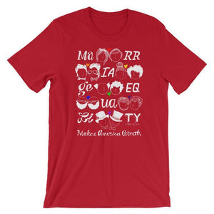 Marriage Equality Men's T-Shirt by Mark Addison Smith S / Red T-Shirt What Makes America Great