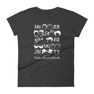 Marriage Equality Women's T-Shirt by Mark Addison Smith S / Heather Dark Grey T-Shirt What Makes America Great