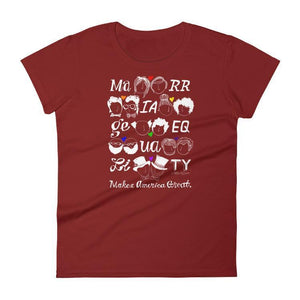 Marriage Equality Women's T-Shirt by Mark Addison Smith S / Red T-Shirt What Makes America Great