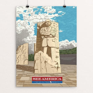 "Martin Luther King, Jr. Memorial by Brixton Doyle 18"" by 24"" Print / Unframed Print See America"