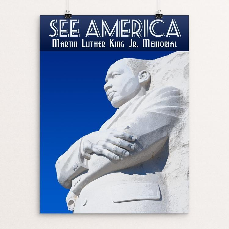 "Martin Luther King, Jr. Memorial by Zack Frank 12"" by 16"" Print / Unframed Print See America"