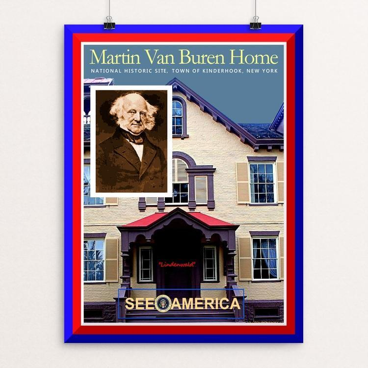 "Martin Van Buren National Historic Site by Bob Rubin 12"" by 16"" Print / Unframed Print See America"