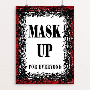 "Mask Up by JP Designs 18"" by 24"" Print / Unframed Print Creative Action Network"