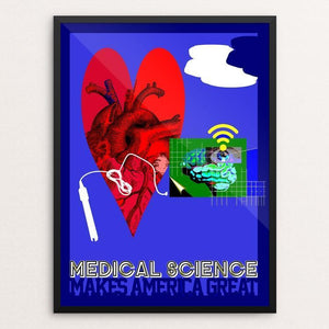 "Medical Science by Bob Rubin 12"" by 16"" Print / Framed Print What Makes America Great"