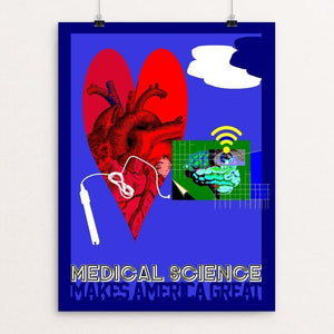 "Medical Science by Bob Rubin 12"" by 16"" Print / Unframed Print What Makes America Great"