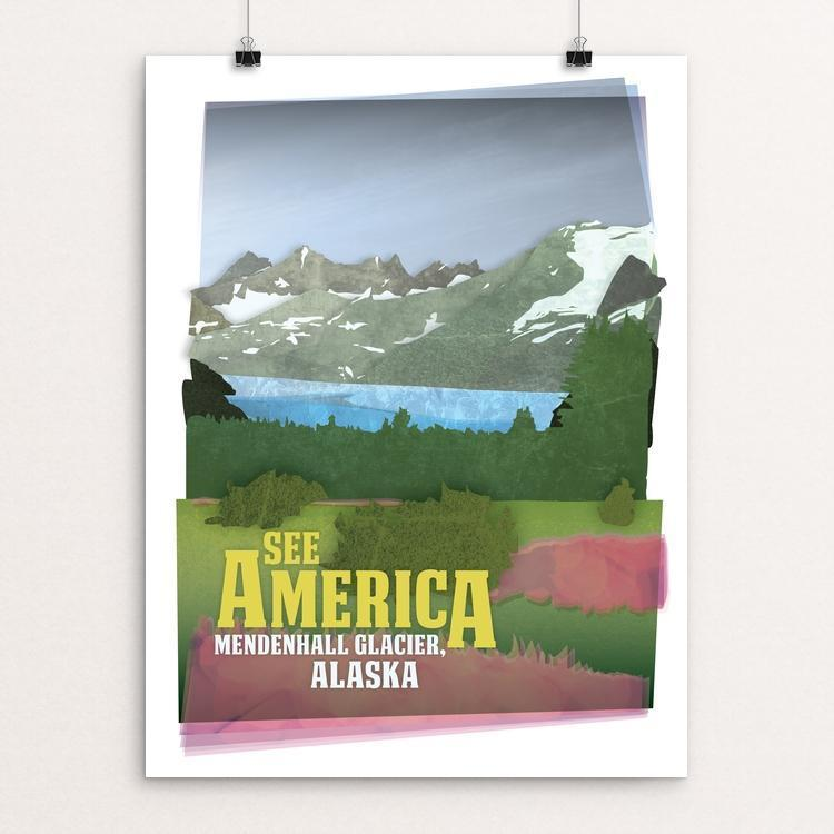 "Mendenhall Glacier by Design By Goats 12"" by 16"" Print / Unframed Print See America"