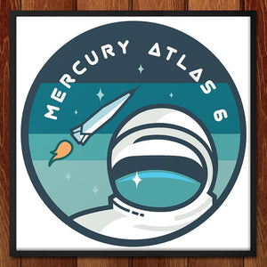 "Mercury Atlas 6 by Jennifer Brigham 12"" by 12"" Print / Framed Print Space Horizons"