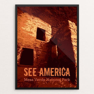 "Mesa Verde National Park by Rendall M. Seely 12"" by 16"" Print / Framed Print See America"