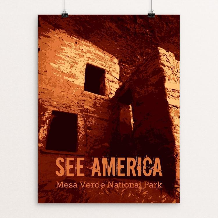 "Mesa Verde National Park by Rendall M. Seely 12"" by 16"" Print / Unframed Print See America"