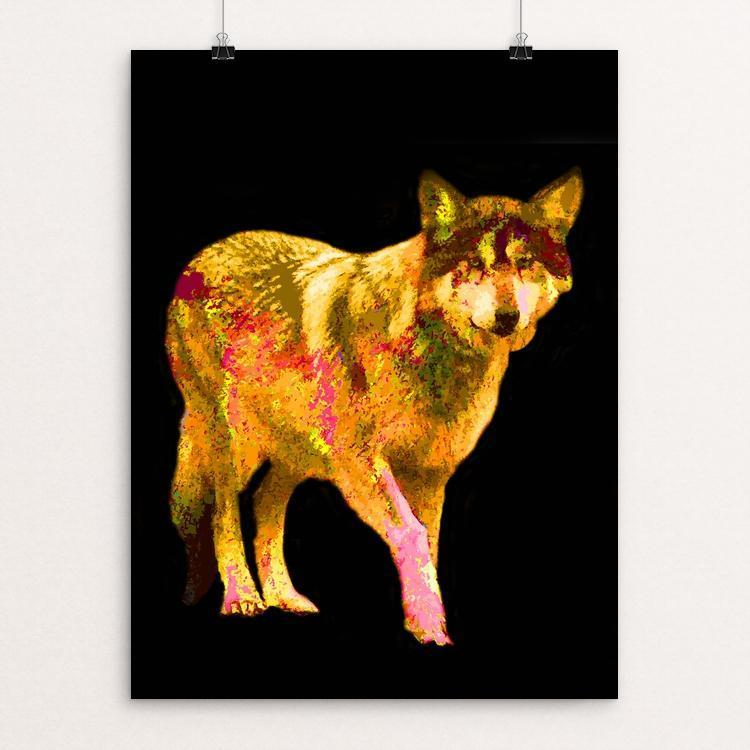 "Mexican Gray Wolf by Anthony Chiffolo 12"" by 16"" Print / Unframed Print Join the Pack"