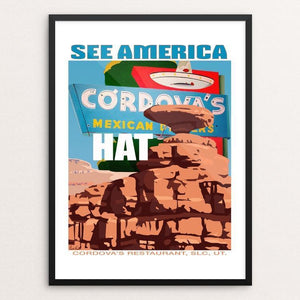 "Mexican Hat Rock and Cordova's by Paul Heath 12"" by 16"" Print / Framed Print See America"