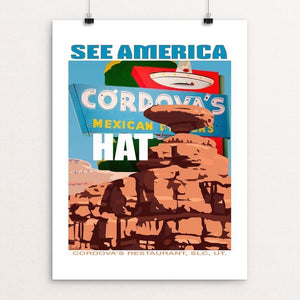 "Mexican Hat Rock and Cordova's by Paul Heath 12"" by 16"" Print / Unframed Print See America"