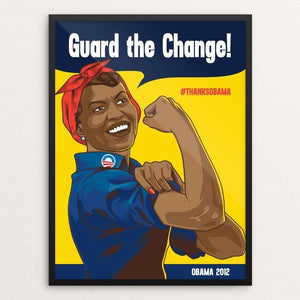 "Michelle the Supporter by Roberlan Paresqui 12"" by 16"" Print / Framed Print Design For Obama"