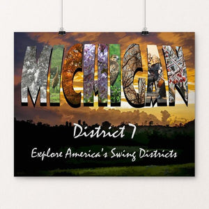"Michigan District 7 by Sheri Emerson 20"" by 16"" Print / Unframed Print Postcards from America's Swing Districts"