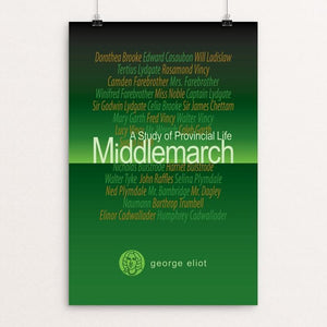"Middlemarch by Robert Wallman 12"" by 18"" Print / Unframed Print Recovering the Classics"