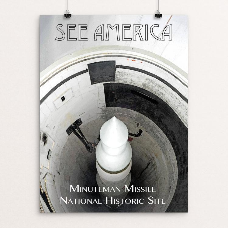 "Minuteman Missile National Historic Site by Zachary Frank 12"" by 16"" Print / Unframed Print See America"