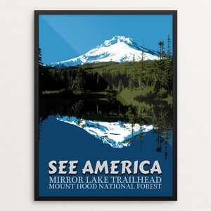 "Mirror Lake Trailhead, Mount Hood National Forest by E. Michelle Peterson 12"" by 16"" Print / Framed Print See America"